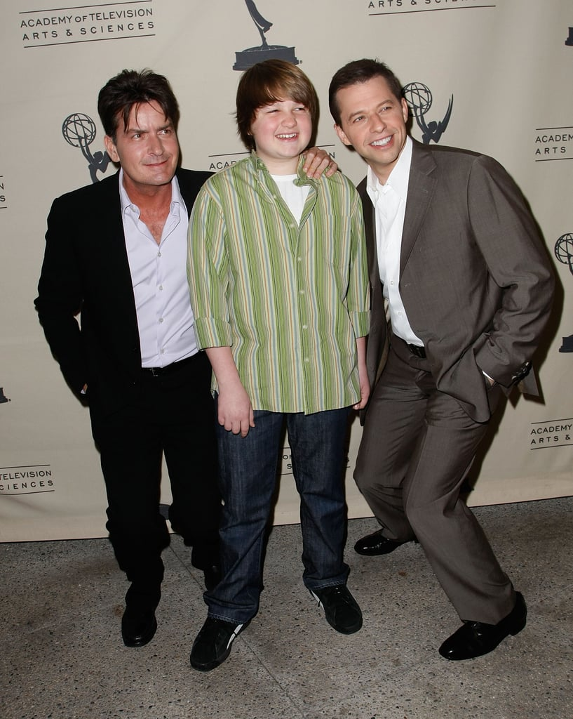 With Charlie Sheen and Jon Cryer at An Evening with Two and a Half Men in February 2008.