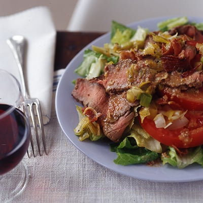Recipe For Beef, Leek, and Tomato Salad