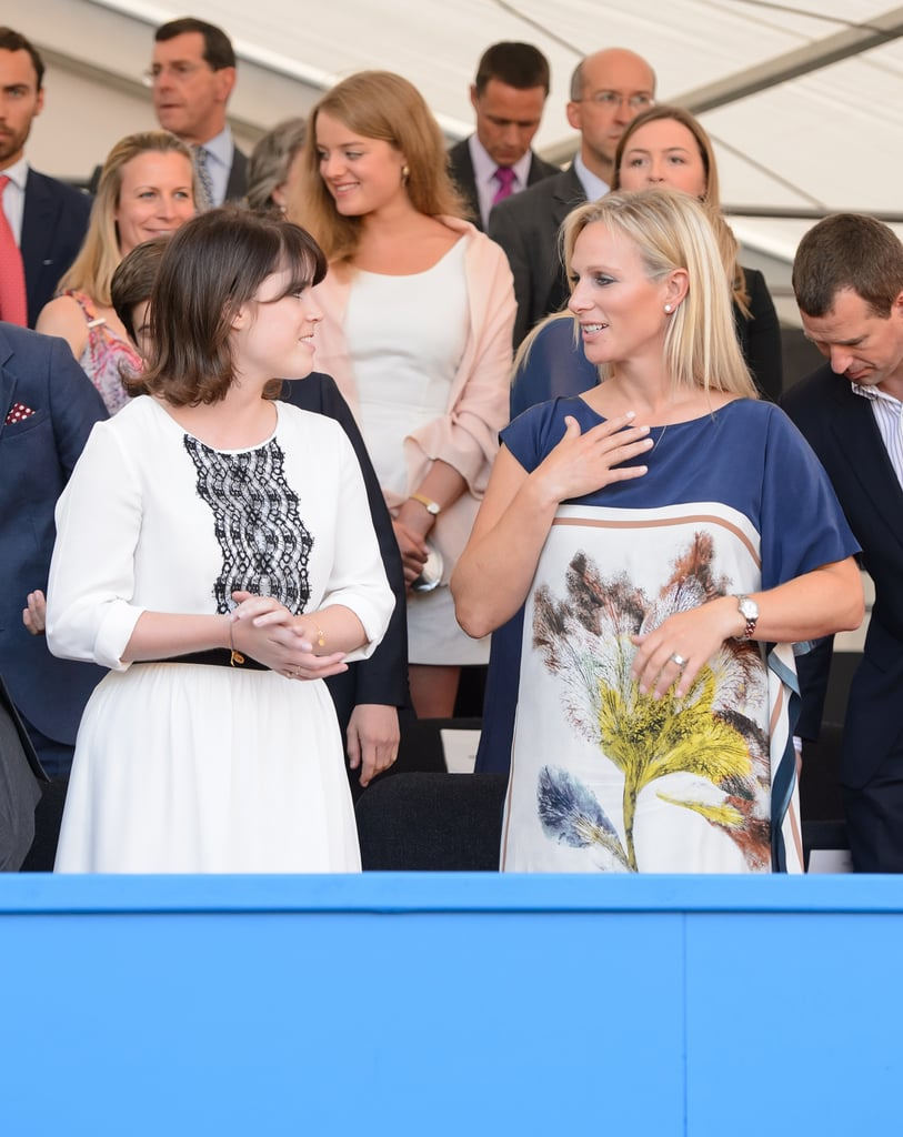 Princess Eugenie and Zara Phillips sat together at the Coronation Festival Evening Gala.