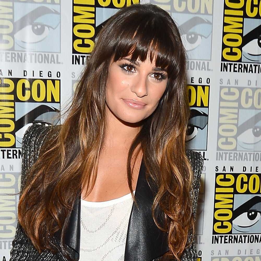 Her co-star Lea Michele rocked balayage and a thick fringe — a look we're also loving on Jessica Biel.