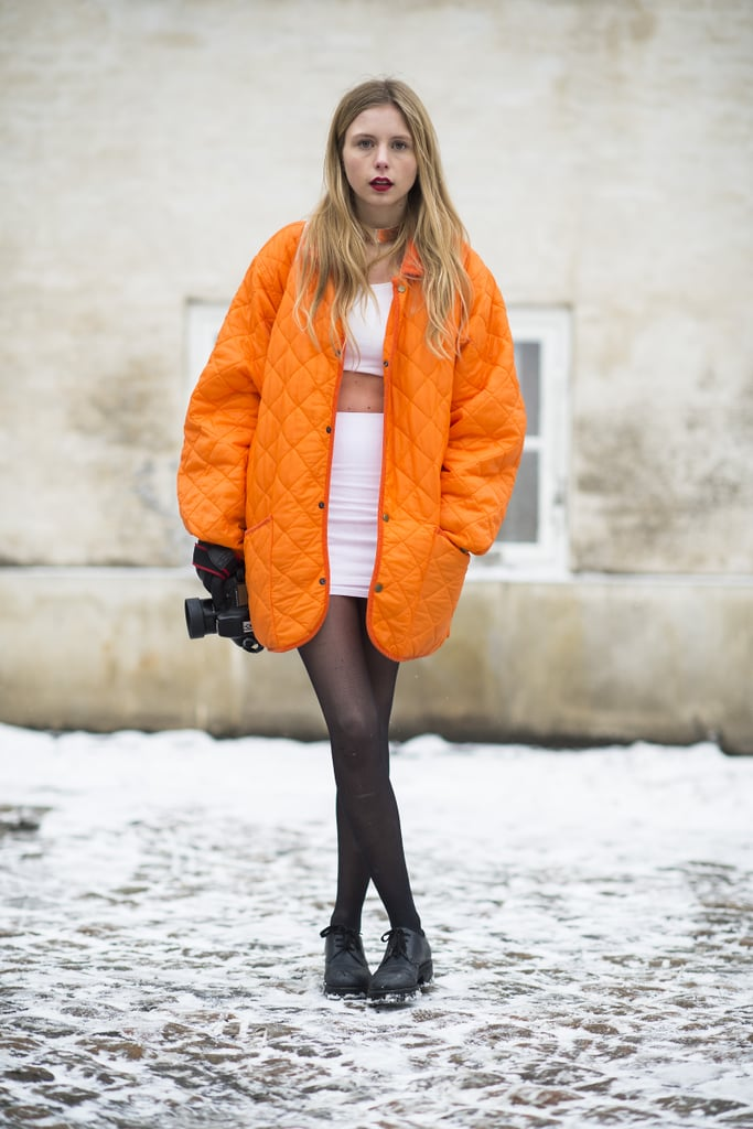 For the fashion fearless, a crop top is surefire way to beat the Winter doldrums. Source: Le 21ème | Adam Katz Sinding