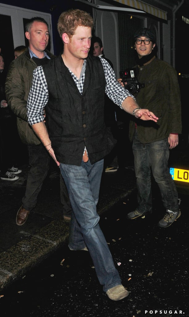 Prince Harry left a club in London.