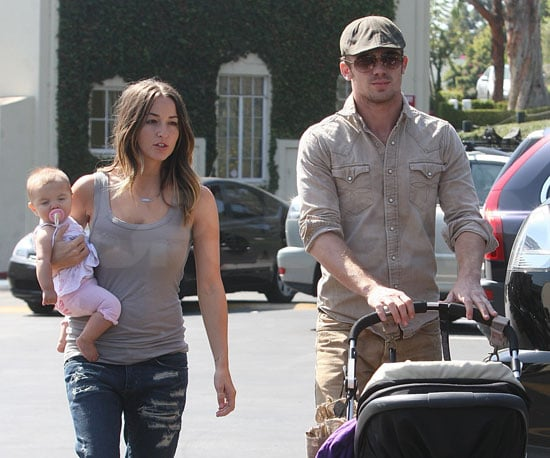 Slide Photo of Cam Gigandet and His Family Out in LA