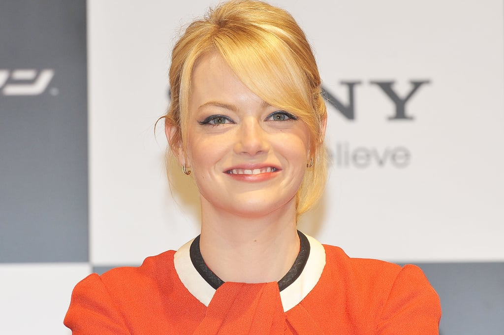 Emma Stone had a big smile at the press conference for The Amazing Spider-Man in Japan.