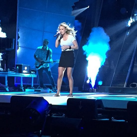 Carrie Underwood Rehearsing For the 2015 CMT Awards
