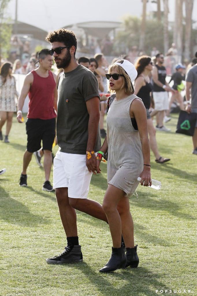 Zoë Kravitz and her boyfriend, Noah Becker, walked hand in hand.