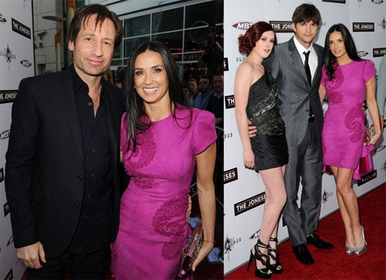 Pictures of Demi Moore, Ashton Kutcher, David Duchovny, and Rumor Wills at the Premiere of The Joneses 2010-04-09 15:30:00