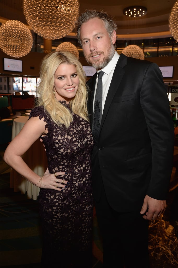 Jessica had the support of her husband at the YMA Fashion Scholarship Fund Gala, where she was honored with the Future of Fashion Award in January 2016.