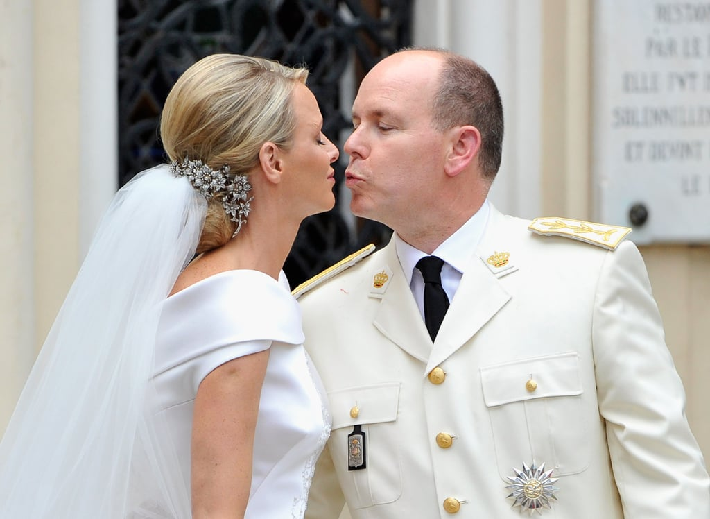 The Princess of Monaco Gets Gorgeous in Armani to Marry Prince Albert in a Lavish Catholic Ceremony