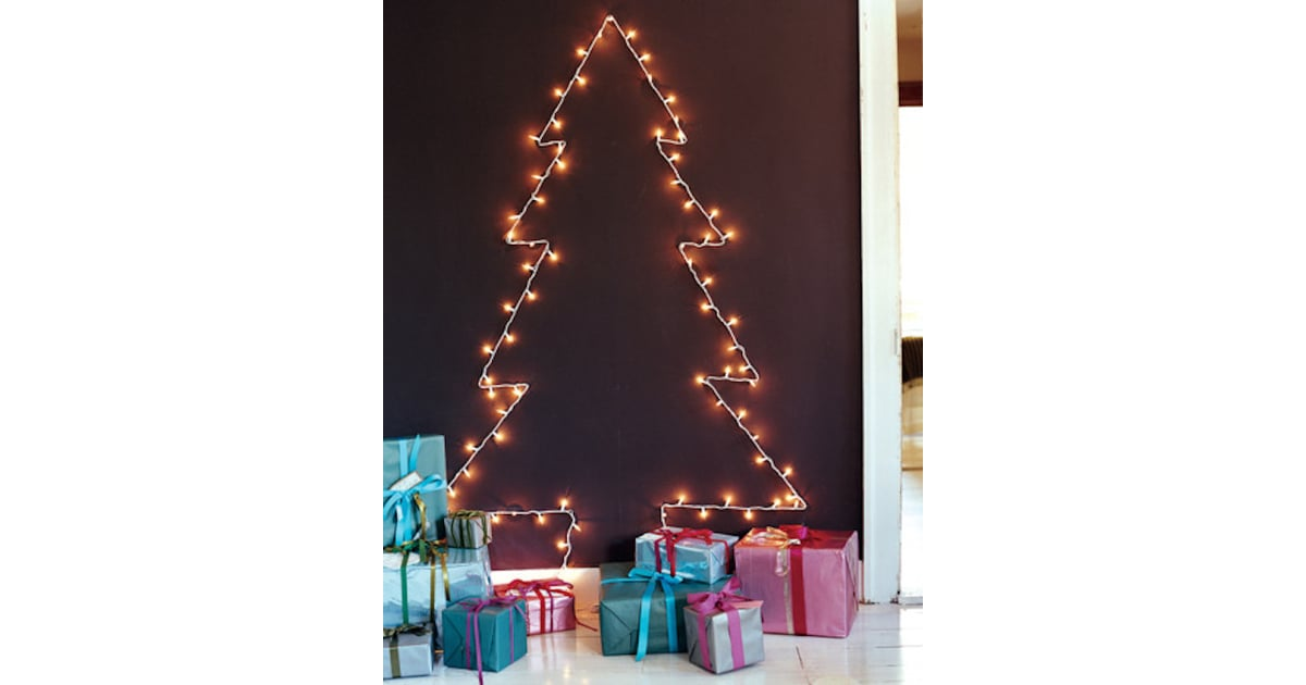 How To String Lights On A Real Christmas Tree : String-Light Tree 15 Crazy-Affordable Alternatives to Real Christmas Trees POPSUGAR Smart Living