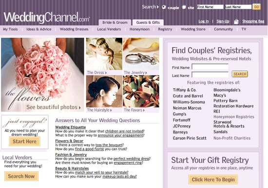 Fab Site: WeddingChannel.com