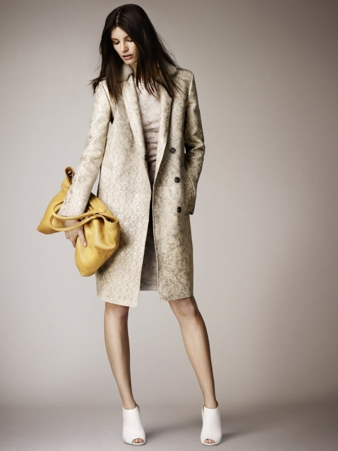 The trench, a Burberry mainstay, is reworked in a lace-print leather that seems perfect for all English roses (the real deal or not). Source: Burberry