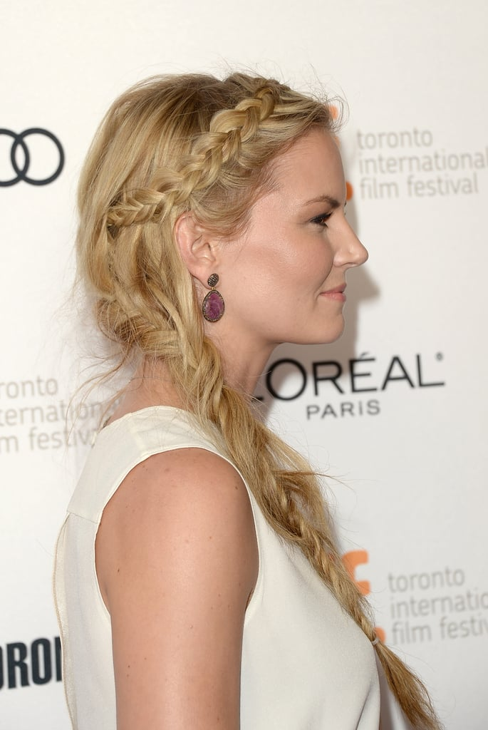 Jennifer Morrison's braid looked impressive from the side, as she showed of a long plait that cascaded into a fishtail style.