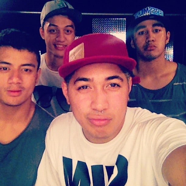 The Fourtunate boys were pleased with themselves after a rehearsal session. Source: Instagram user joekalepo