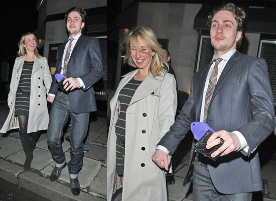 Photos of Aaron Johnson Engaged to Sam Taylor-Wood Out For Dinner in London Over Easter Weekend Details on Chatroom Film