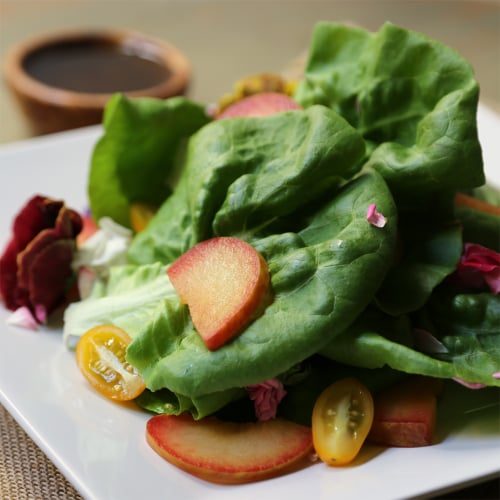 Summery Salad With Pluots and Cherry Tomatoes
