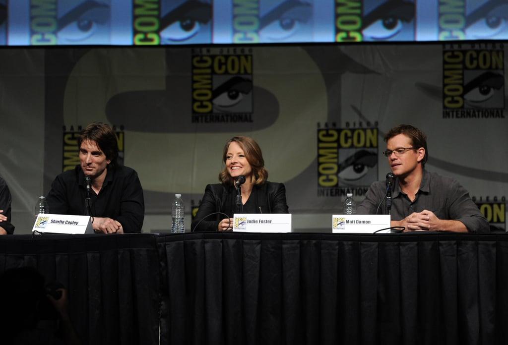 Sharlto Copley, Jodie Foster and Matt Damon talked Elysium.