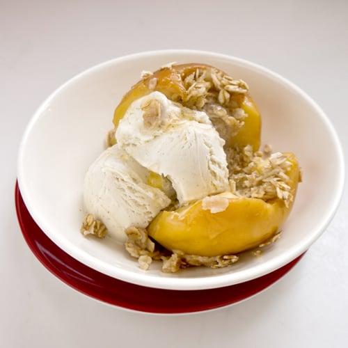 Oatmeal- and Brown-Sugar-Stuffed Apples