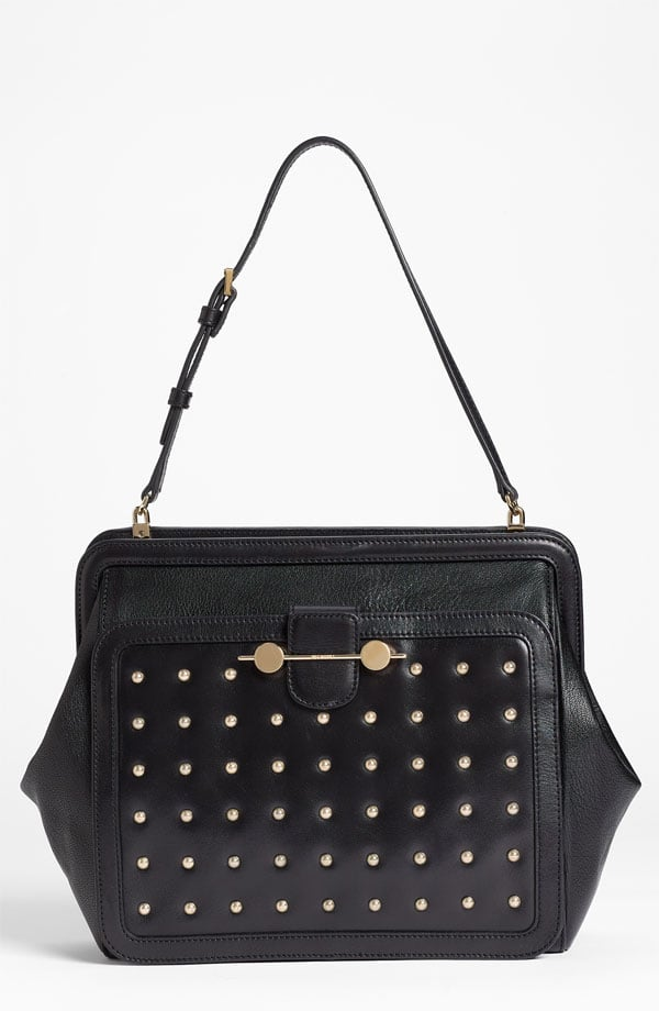 The bag: Jason Wu Daphne Warrior Leather Satchel ($2,160) Why we love it: Wu has a way with crafting a modern take on the ladylike look, and this satchel is just that. Its shape is a nod to something girlie and feminine, but studs give it a much more contemporary twist that would work day to night, season after season. It's an investment for sure, but one that will serve your wardrobe well.