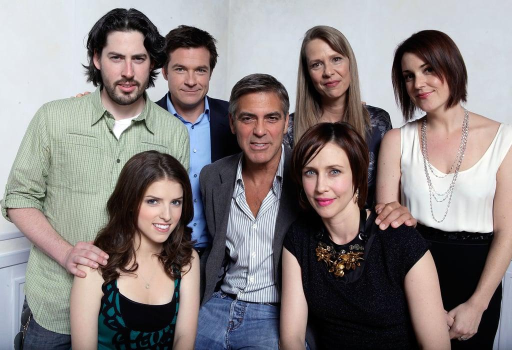 Up in the Air director Jason Reitman posed for a portrait with Anna Kendrick, Jason Bateman, George Clooney, Amy Morton, Vera Farmiga and Melanie Lynskey during the 2009 film festival.
