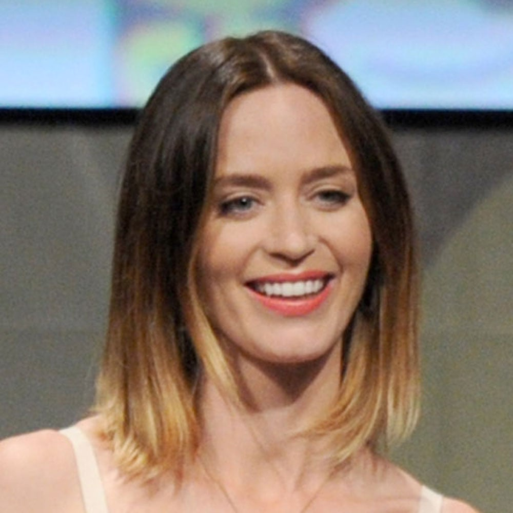 Emily Blunt's balayage was inspirational! She finished off her look with a peach lip.