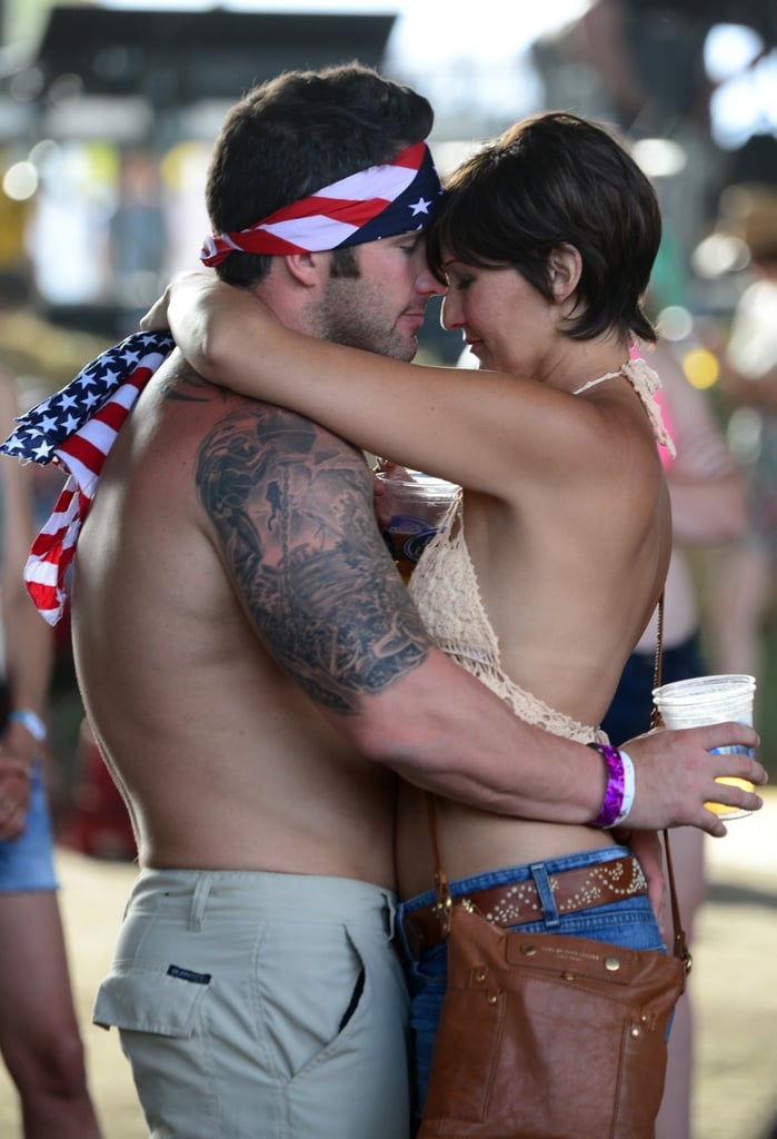 A couple danced together at the 2014 Stagecoach Music Festival.