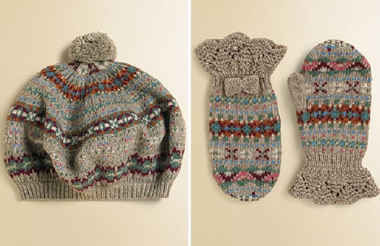 Ralph Lauren Fair Isle Beret and Mittens