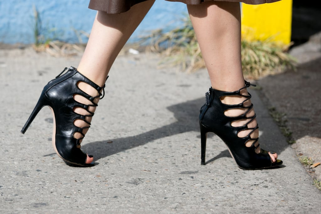 Hot to trot in Zara heels.