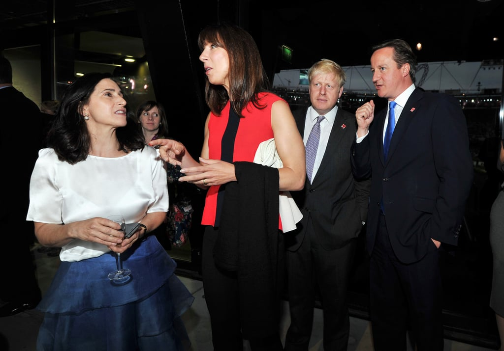 Prime Minister David Cameron, his wife, Samantha, Mayor of London Boris Johnson, and his wife, Marina Wheeler, attended the opening ceremony together.
