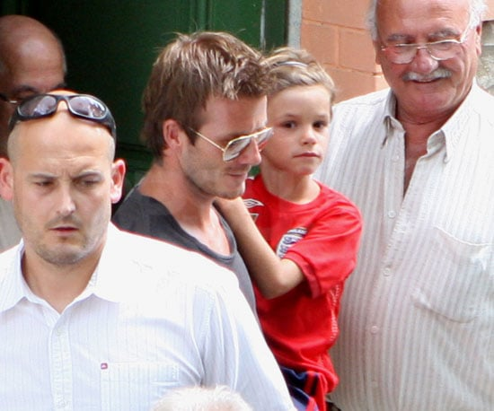 Photo Slide of David and Romeo Beckham in France