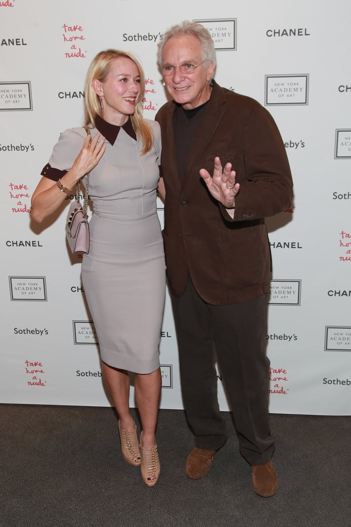 Naomi Watts posed with David Yurman at the Take Home a Nude art auction in NYC.