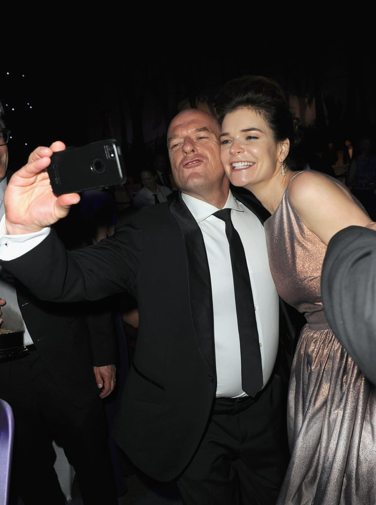 Dean Norris snapped a selfie with his onscreen wife, Betsy Brandt.