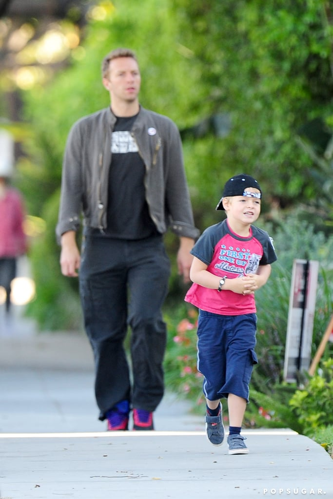 Chris Martin walked Moses to school.