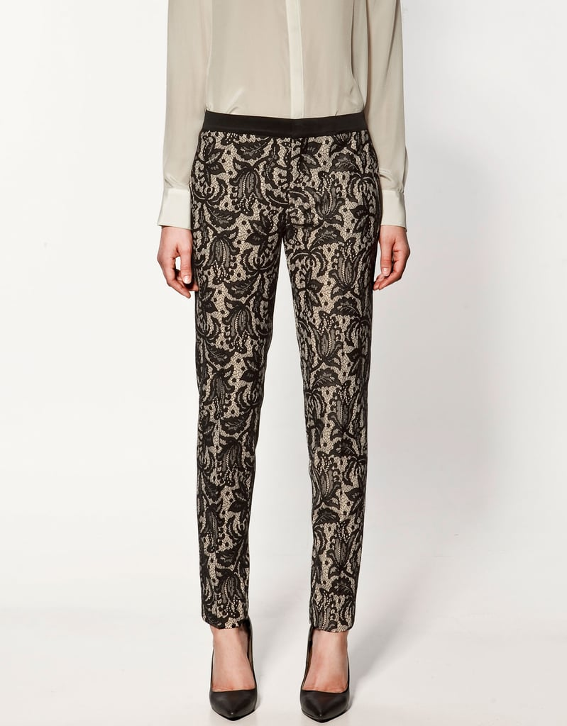Pair these lace trousers with a black button-down for the office. Zara Lace Trousers ($20, originally $80)