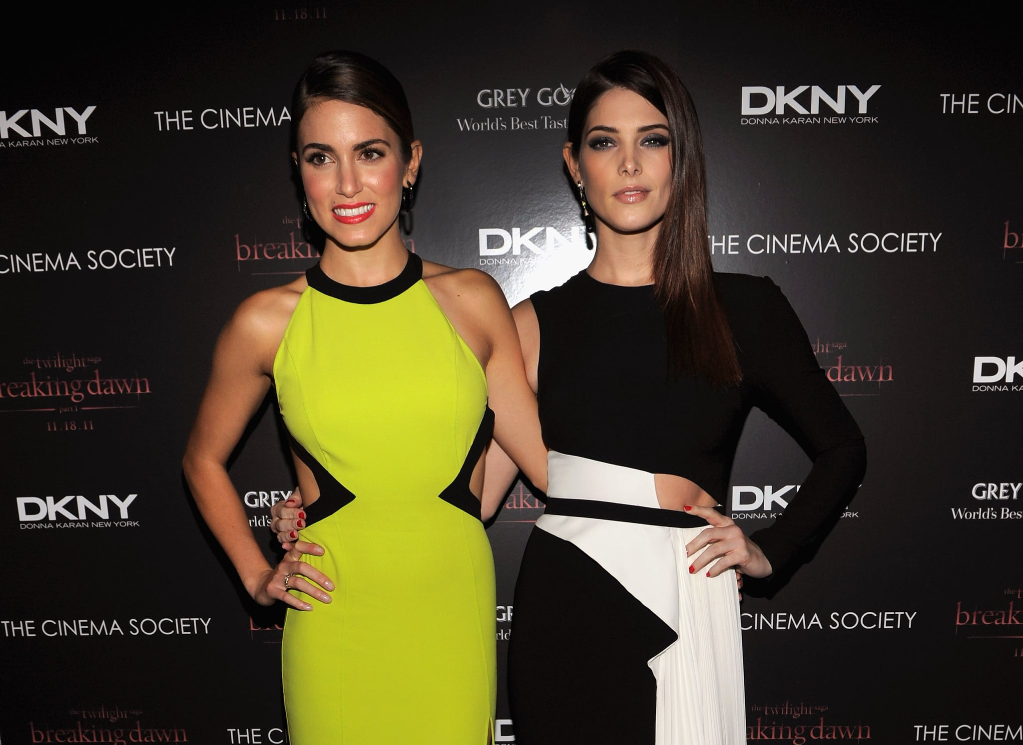 Ashley Greene and Nikki Reed looked drop-dead gorgeous in NYC.