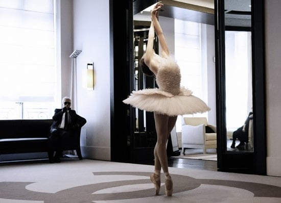 Karl Lagerfeld Creates Custom Tutu For Ballerina Elena Glurdjidze and Films Impromtu Performance