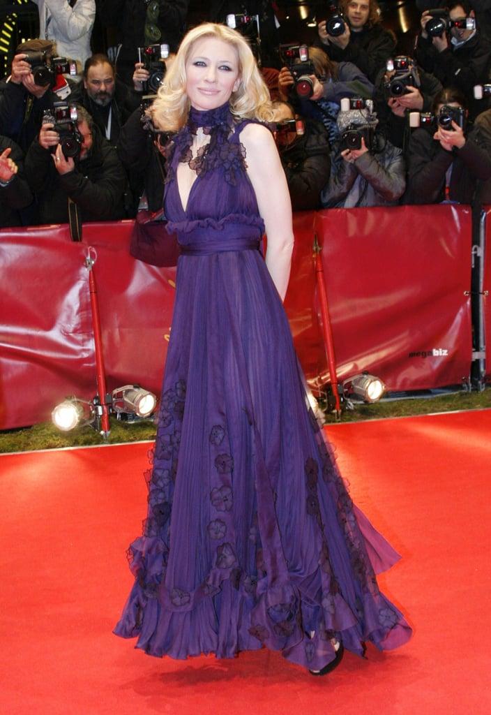 Cate Blanchett in Purple Yves Saint Laurent at the 2007 Berlin International Film Festival
