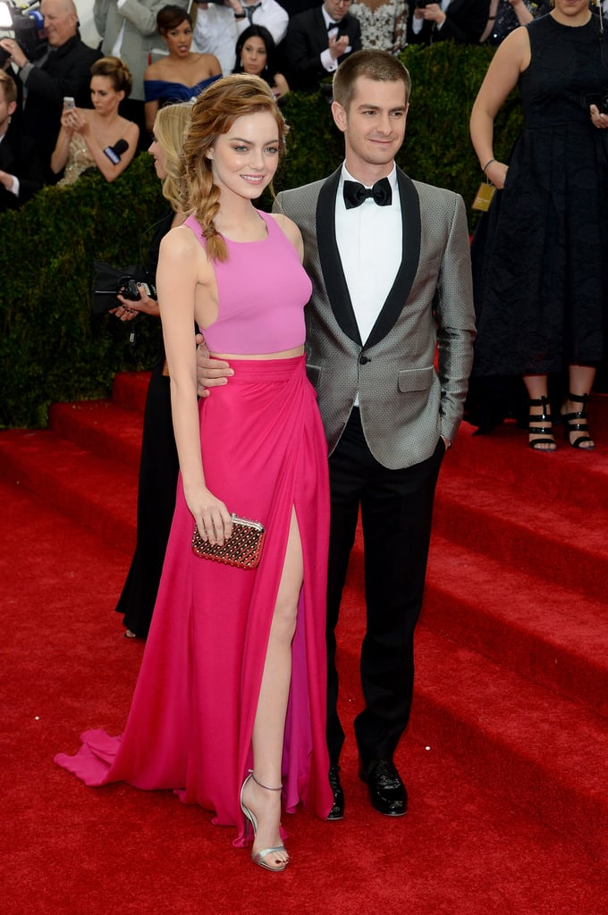 Emma Stone and Andrew Garfield at the 2014 Met Gala
