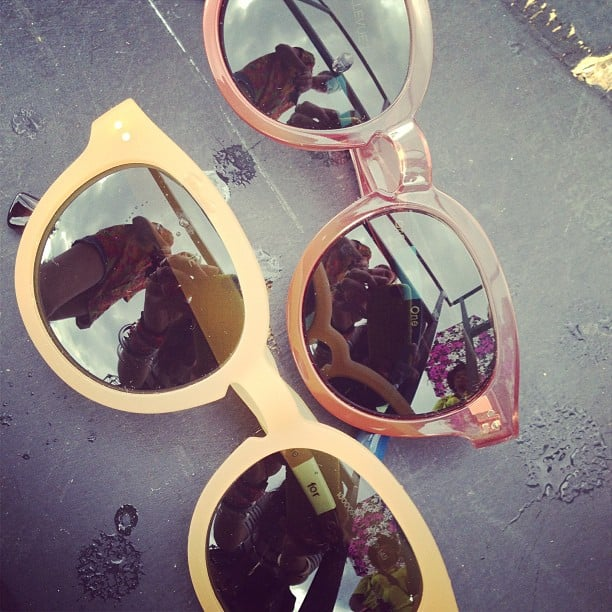 We took a break from rocking out to Icona Pop to lay eyes on the latest sunglasses from TOMS. We can't wait to wear these now through Fall. Source: Instagram user POPSUGARFashion