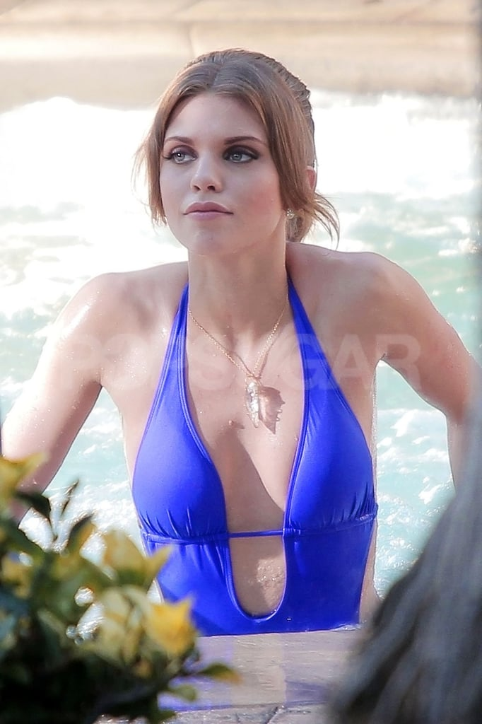 AnnaLynne McCord shot a swimsuit scene.