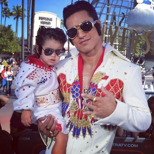 Mario Lopez and His Son as Elvis Presley