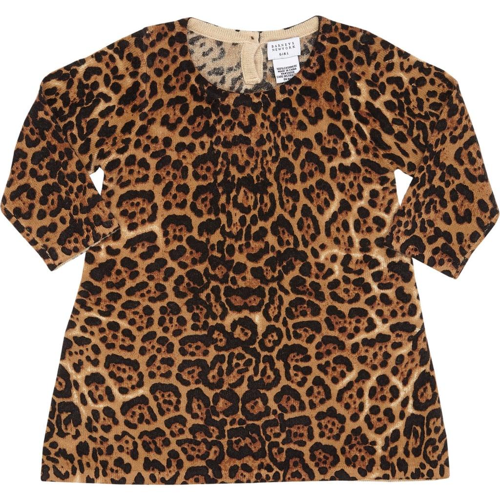 Barneys New York Leopard Cashmere Sweater Dress