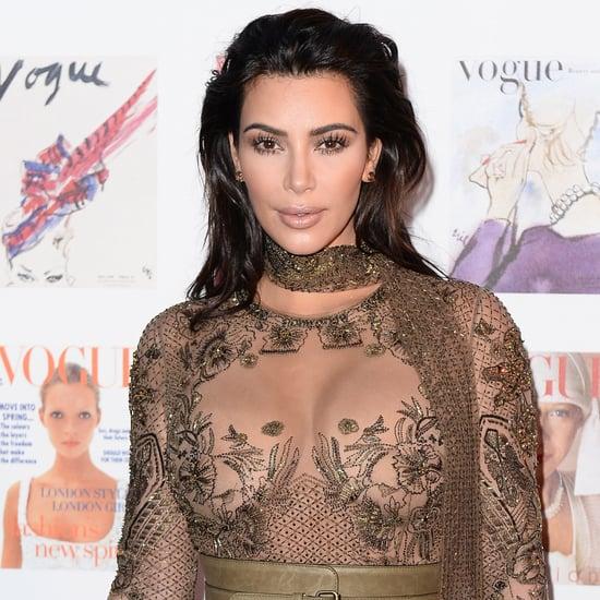 Kim Kardashian Cleavage Pictures