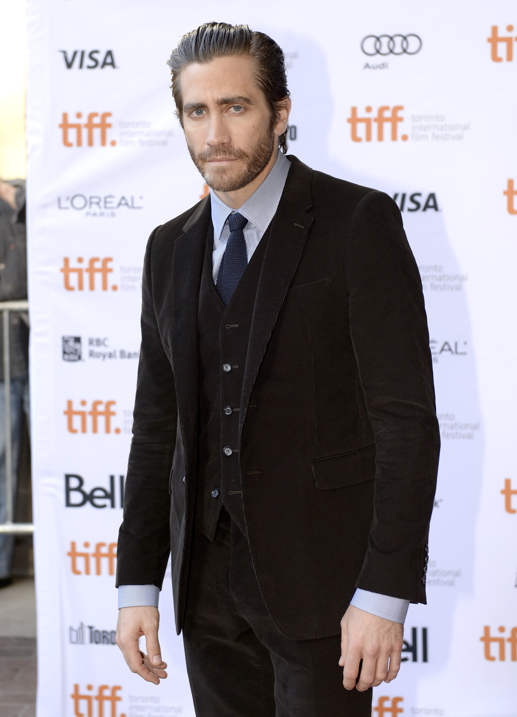 Jake Gyllenhaal got dressed up in a three-piece suit for the Enemy premiere in Toronto.