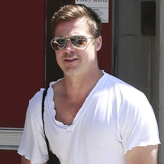 Brad Pitt Gets a Parking Ticket | Pictures