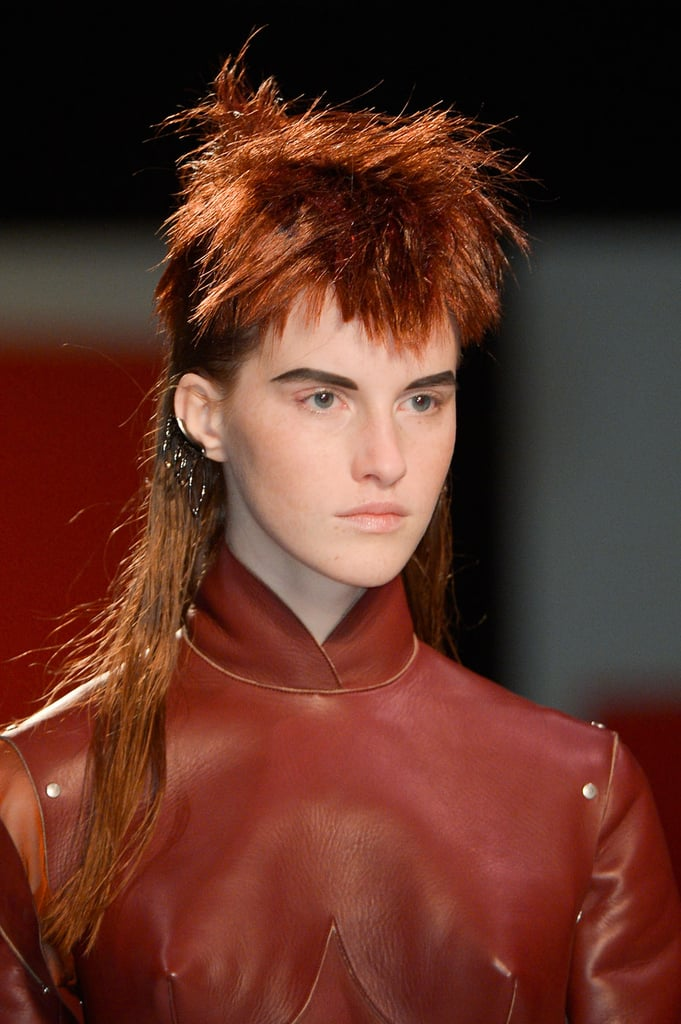 """Guido also wanted the hair to have a wet quality, which feels more """"intimate and sexy"""" than dry hair. """"It injects some energy,"""" he explained. The hair was sprayed with new Redken Control Addict 28 hair spray as a finishing touch."""