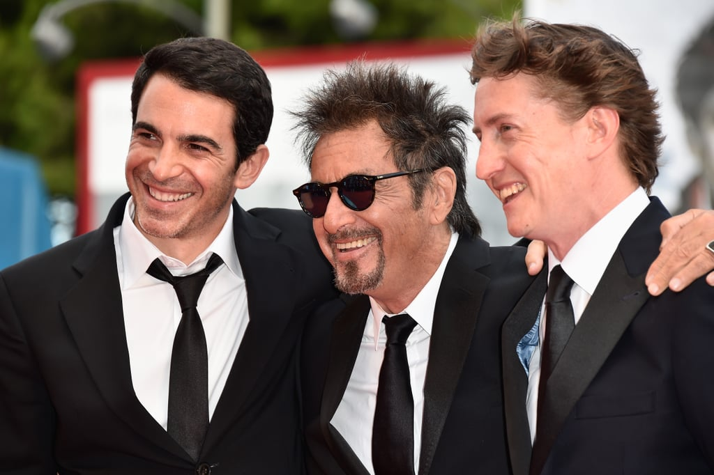 Chris Messina, Al Pacino, and director David Gordon Green shared a smiley moment at the Manglehorn event.