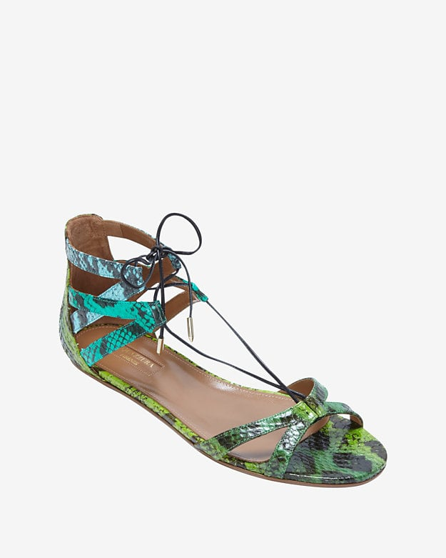 Aquazzura Beverly Hills Lace-Up Sandal