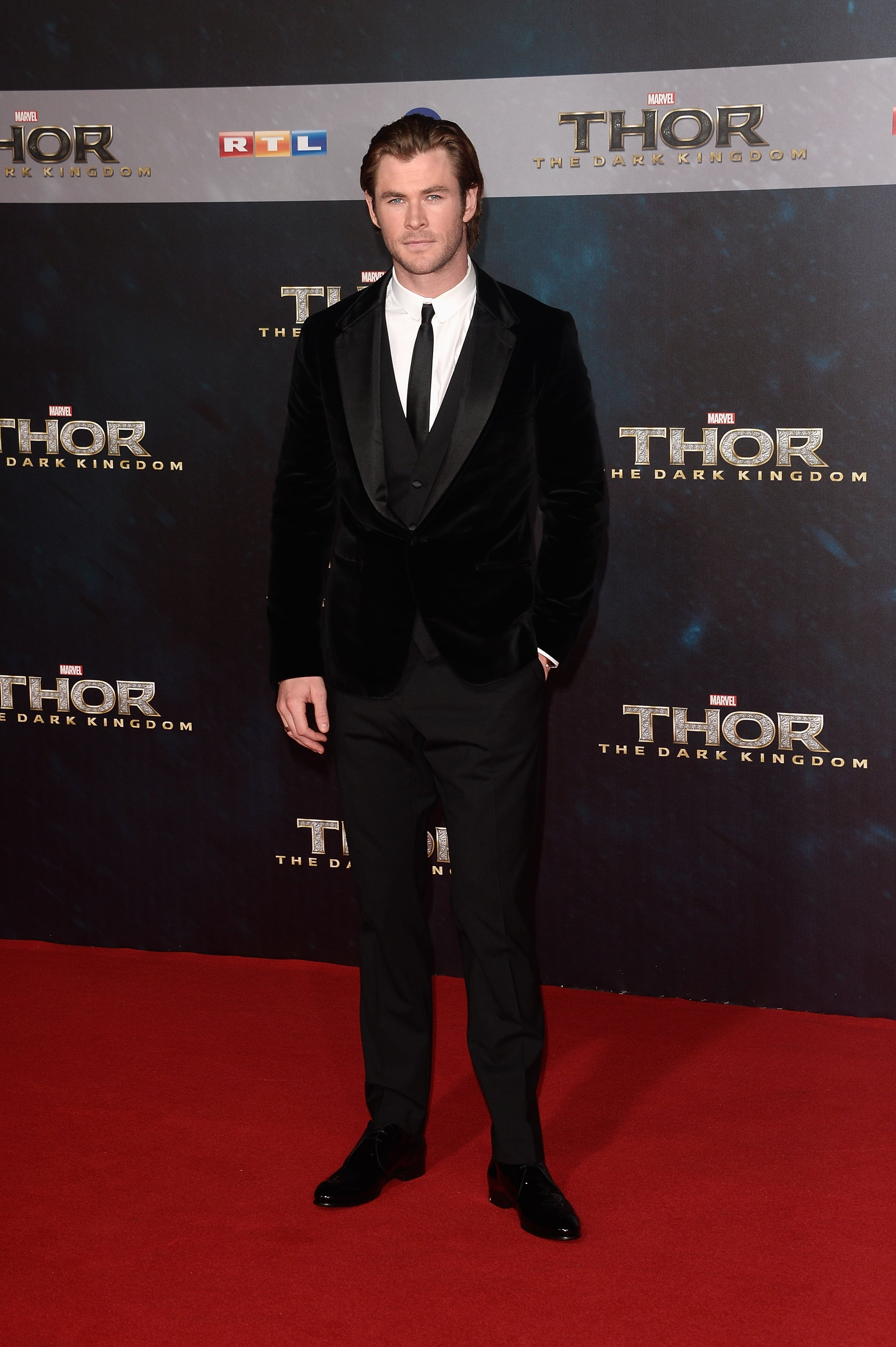 Chris Hemsworth looked dapper at the German premiere of Thor: The Dark World.