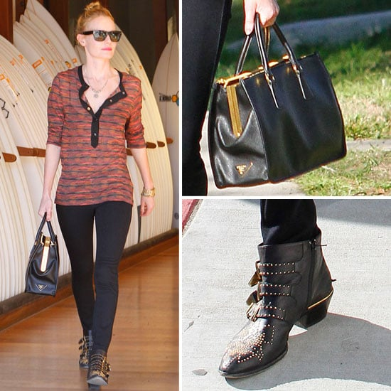 Kate Bosworth Carrying Prada Bag With Michael Polish in LA